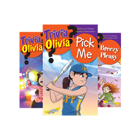 Book covers of the Trivia Olivia ebook series