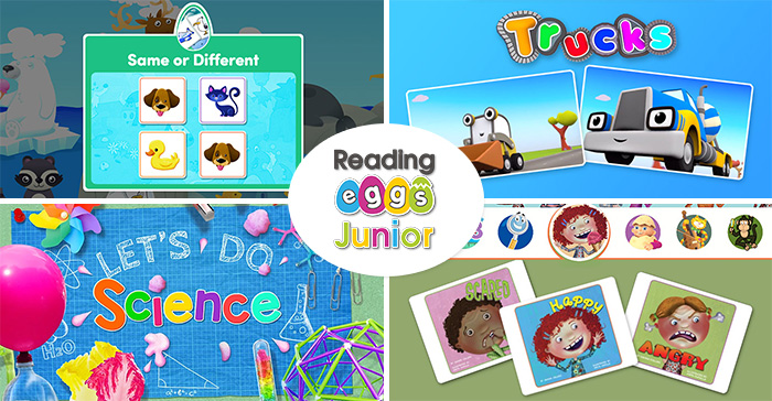 Screenshots from Reading Eggs Junior