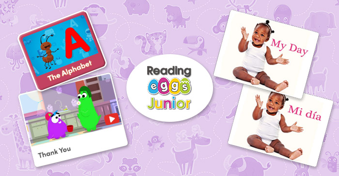 New toddler activities and videos from Reading Eggs Junior